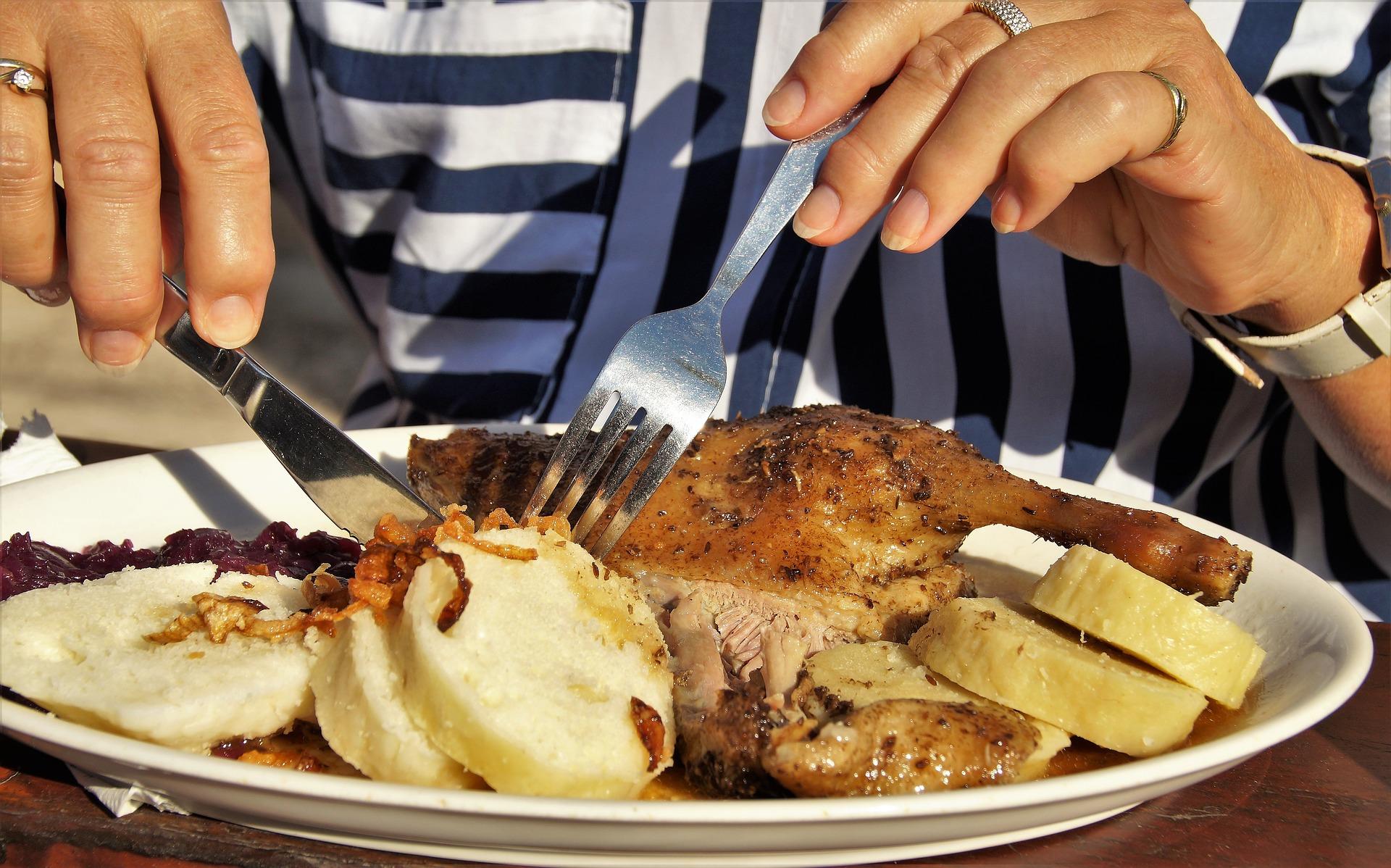 Czech cuisine goose