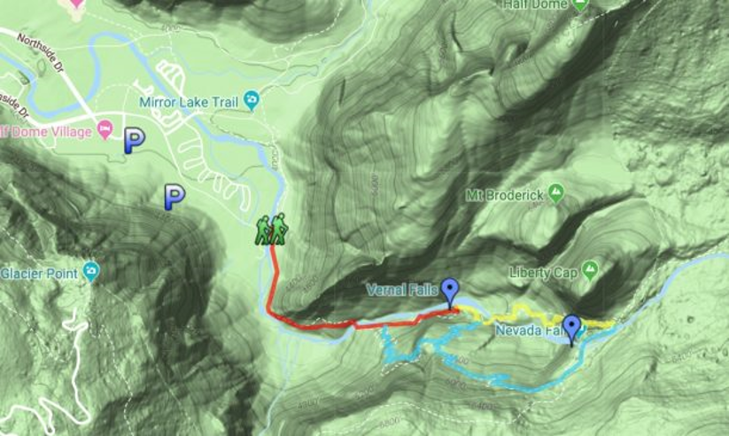 Mist Trail Map