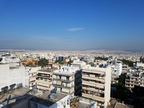 View From Airbnb Athens Greece