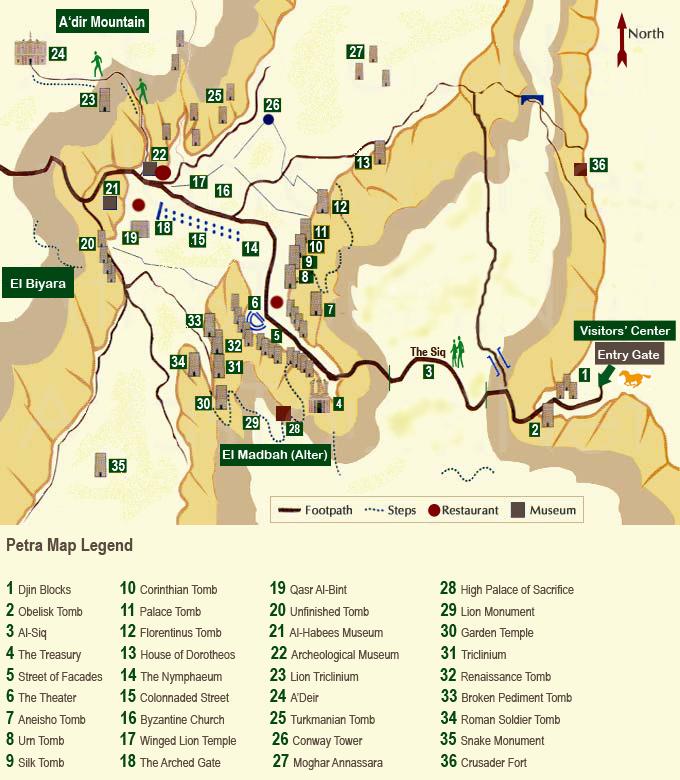 Map of Petra