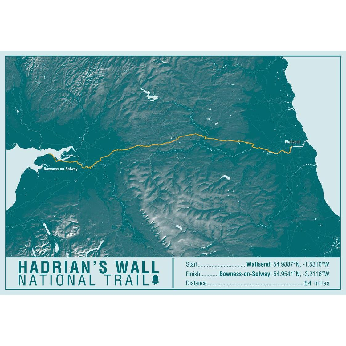 Hiking Wall Map