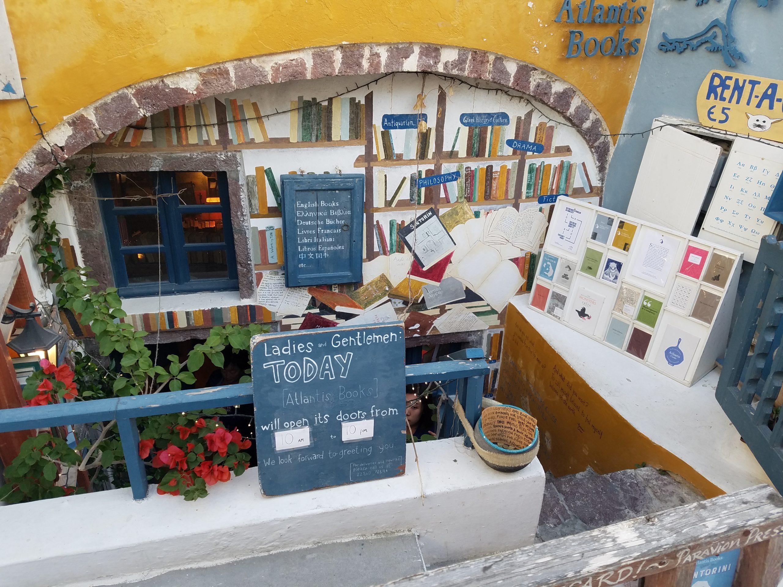 Atlantis Book Store Santorini