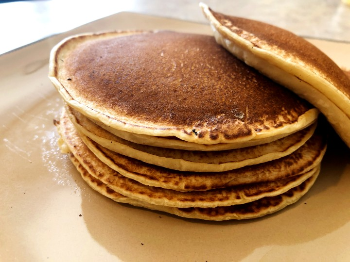 almond milk pancake stack 2