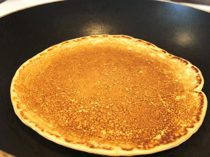 almond milk pancakes cooking