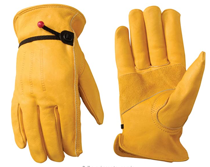Wells Lamont Men's Cowhide Leather Work Gloves